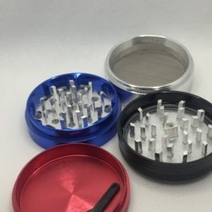 2 Inch Glass Top Multicolour 4 Pieces Grinder