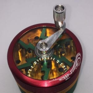 2 Inch Red Gold and Green Metal 4 Pieces Herb Weed Spice Grinder