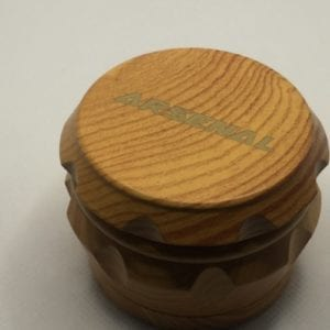 2 Inch Wood Herb Spice Natural Color Grinder