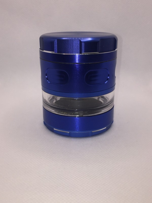 3 Inch Blue 4 Pieces Window Metal Grinder for Spices, Herb and Weed