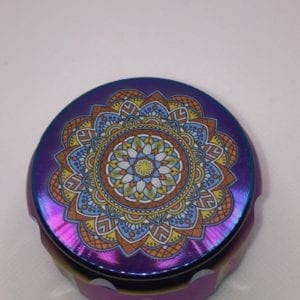 Pattern Top Multi-color 4 Pieces Metal Grinder