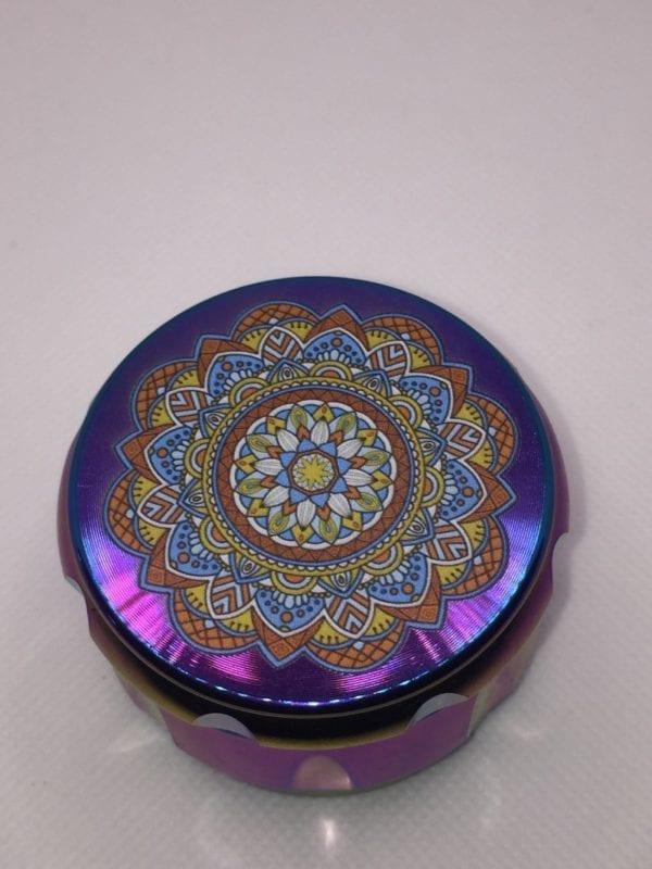 Pattern Top Multi-color 4 Pieces Metal Grinder